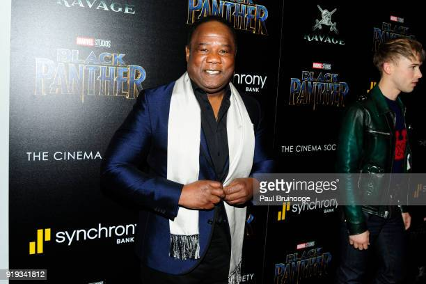 Isiah Whitlock Jr attends The Cinema Society with Ravage Wines Synchrony host a screening of Marvel Studios' 'Black Panther' at The Museum of Modern...