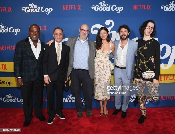 Isiah Whitlock Jr Tony Danza Andy Breckman Monica Barbaro Josh Groban and Bill Kottkamp attend the New York Premiere of Netflix's Original Series The...