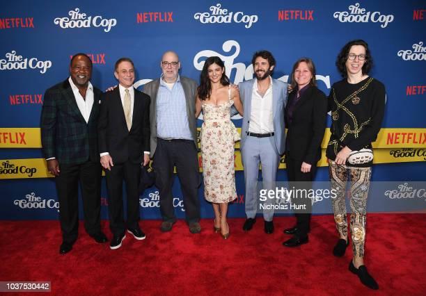 Isiah Whitlock Jr Tony Danza Andy Breckman Monica Barbaro Josh Groban Cindy Holland and Bill Kottkamp attend the New York Premiere of Netflix's...