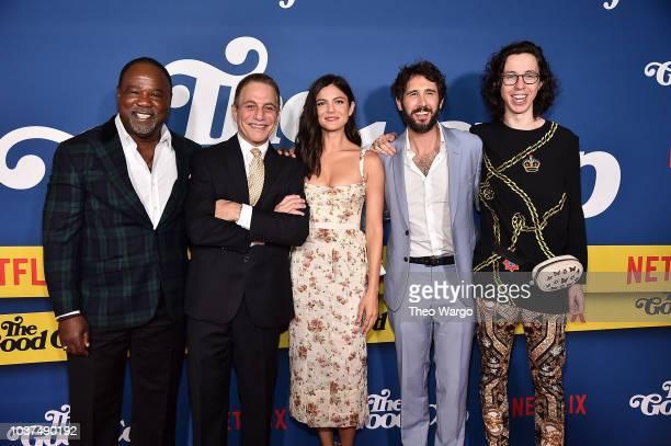 Isiah Whitlock Jr Tony Danza Monica Barbaro Josh Groban and Bill Kottkamp attend The Good Cop Season 1 Premiere at AMC 34th Street on September 21...