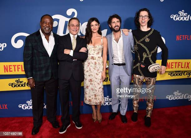 Isiah Whitlock Jr Tony Danza Monica Barbaro Josh Groban and Bill Kottkamp attend 'The Good Cop' Season 1 Premiere at AMC 34th Street on September 21...