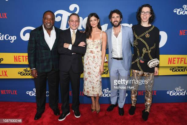 Isiah Whitlock Jr Tony Danza Monica Barbaro Josh Groban and Bill Kottkamp attend the New York Premiere of Netflix's Original Series The Good Cop at...