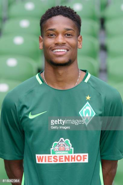 Isiah Young of Werder Bremen II poses during the official team presentation of Werder Bremen II at Weserstadion on July 7 2017 in Bremen Germany
