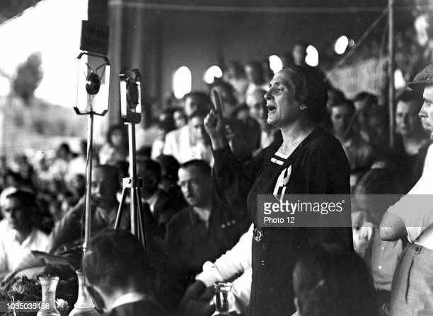Isidora Dolores Ibarruri known as 'La Pasionaria' She was a Spanish Republican leader of the Spanish Civil War and communist politician of Basque...
