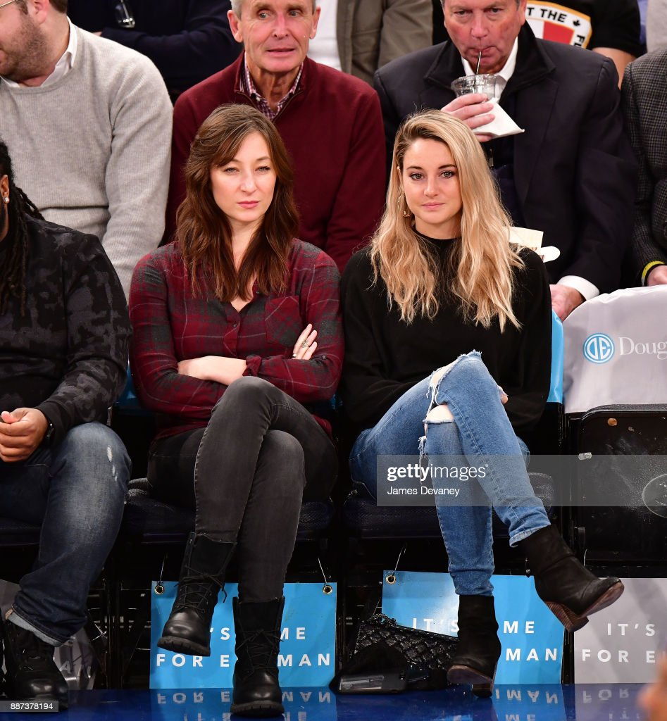 Isidora Goreshter and Shailene Woodley attend the Memphis Grizzlies Vs New York Knicks game at Madison Square Garden on December 6, 2017 in New York City.