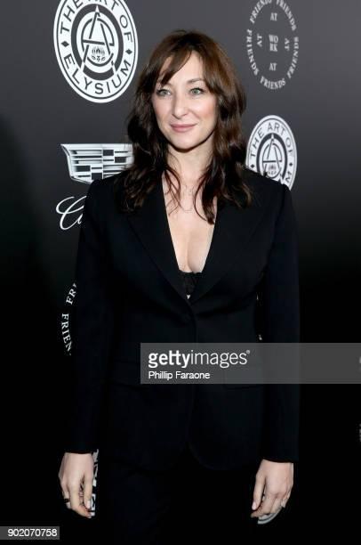 Isidora Goreshter attends The Art Of Elysium's 11th Annual Celebration with John Legend at Barker Hangar on January 6 2018 in Santa Monica California
