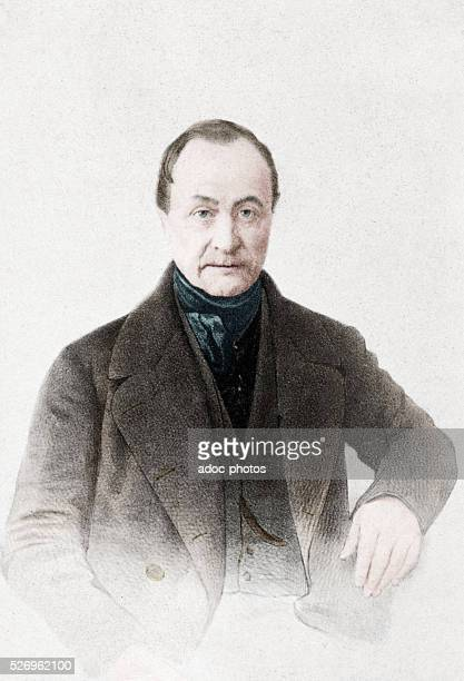 Isidore Marie Auguste Fran��ois Xavier Comte French philosopher born in Montpellier Coloured photograph