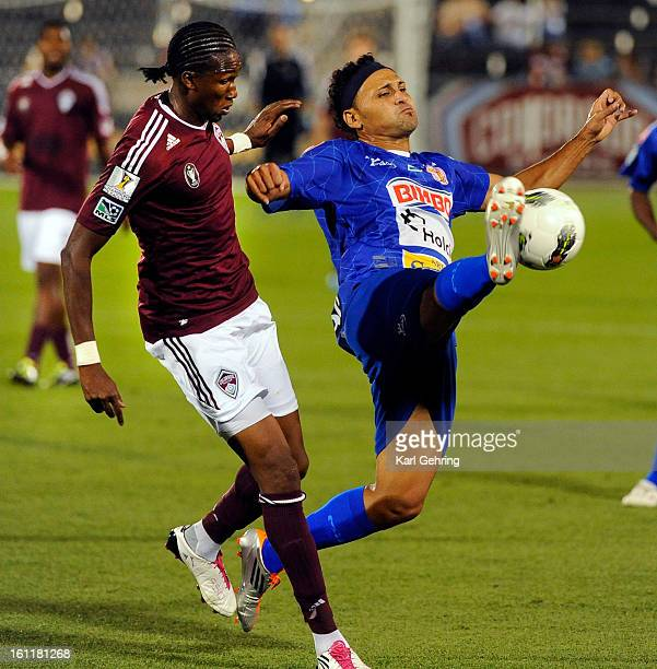 Isidro Metapan defender Alex Escobar stepped in front of Rapids striker Mac Kandji in the second half The Colorado Rapids defeated Ididro Metapan...