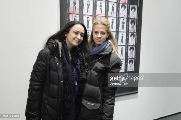 Isil Chedadi and Sasha K Gordon attend Robert Whitman Presents Prince 'Pre Fame' Private Viewing Event Exclusively On Vero on December 14 2017 in New...