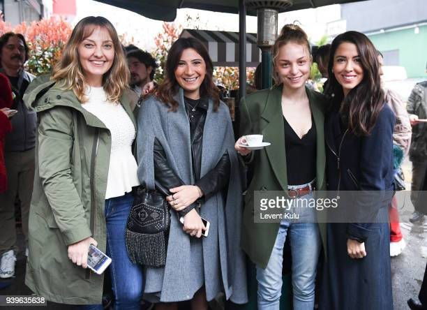 Isin Gormus and Tanem Sivar Dirvana attend the Asli Filinta show during Mercedes Benz Fashion Week Istanbul at on March 29 2018 in Istanbul Turkey