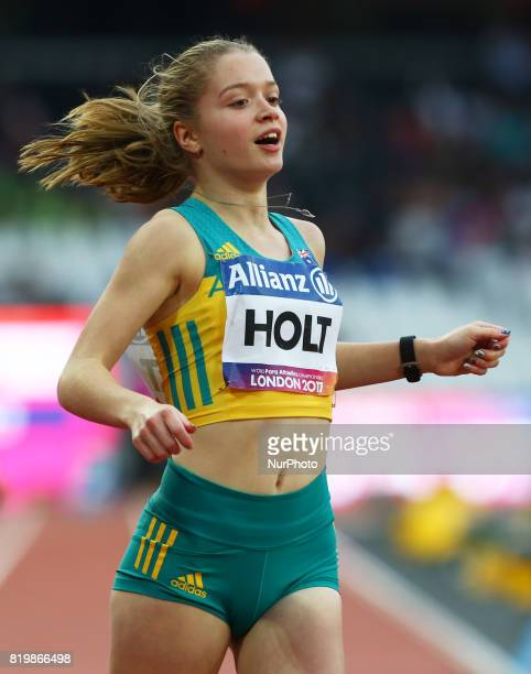 Isis Holt of Australia compete Women's 100m F35 Final during World Para Athletics Championships at London Stadium in London on July 19 2017