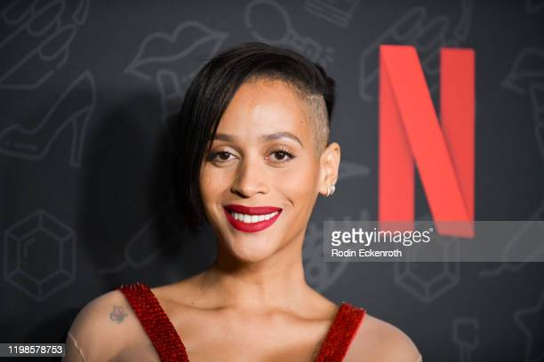 Isis King attends Premiere of Netflix's AJ and the Queen Season 1 at the Egyptian Theatre on January 09 2020 in Hollywood California
