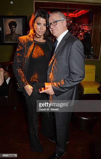 Isis Monteverde and Carlos Monteverde attend Giorgio Veroni's birthday party hosted by his wife Tamara Beckwith at The Rififi Club on February 12...