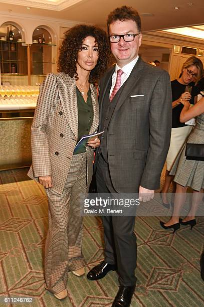 Isis Monteverde and Ewan Venters attend the 3rd Annual Ladies' Lunch in support of the Silent No More Gynaecological Cancer Fund at Fortnum Mason on...