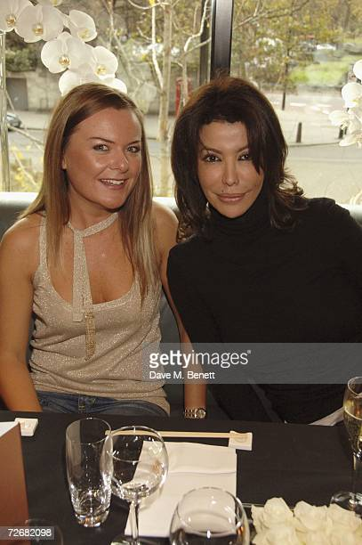 Isis Monteverde and guest attend the de Grisogono Launch Party held at Nobu restaurant in the Metropolitan Hotel on November 30 in London England The...