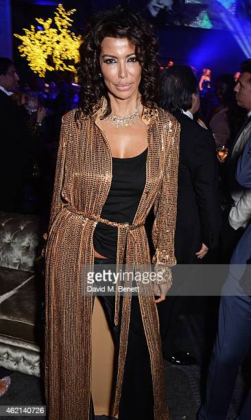Isis Monteverde attends Lisa Tchenguiz's 50th birthday party at the Troxy on January 24 2015 in London England