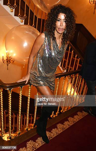 Isis Monteverde attends Lisa Tchenguiz's birthday party on January 23 2016 in London England