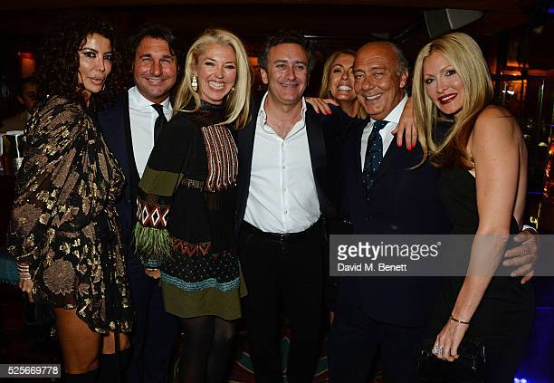 Isis Monteverde Giorgio Veroni Tamara Beckwith Alejandro Agag Grainne Stevenson Fawaz Gruosi and Caprice Bourret attend a private dinner hosted by...