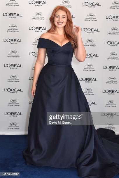Iskra Lawrence achieved her shimmering on trend rose gold hair colour using L'Oreal Paris' at home colour Preference Infinia in shade 823at Martinez...