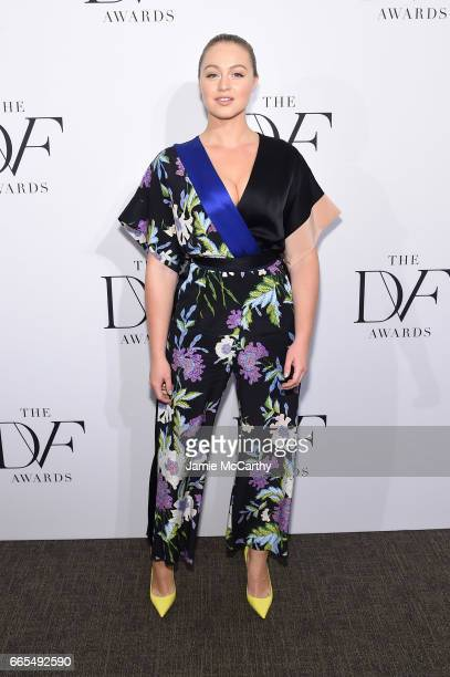 Iskra Lawrence attends the 2017 DVF Awards at United Nations Headquarters on April 6 2017 in New York City