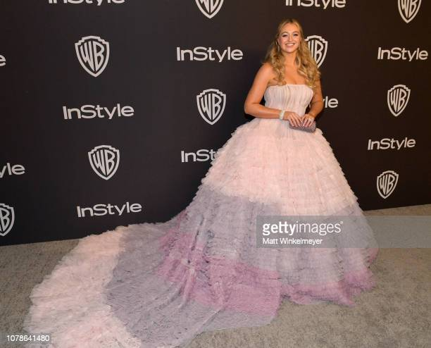 Iskra Lawrence attends the 2019 InStyle and Warner Bros 76th Annual Golden Globe Awards PostParty at The Beverly Hilton Hotel on January 6 2019 in...