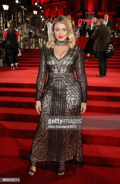 Iskra Lawrence attends The Fashion Awards 2017 in partnership with Swarovski at Royal Albert Hall on December 4 2017 in London England
