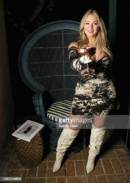 Iskra Lawrence attends the Herring Herring Issue 5 launch party at the private residence of Jonas Tahlin CEO of Absolut Elyx on November 15 2018 in...