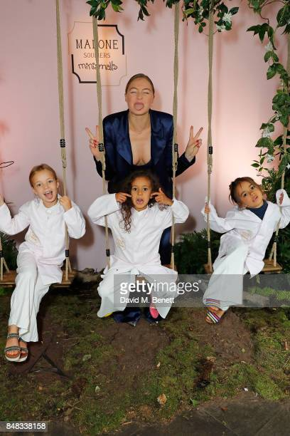 Iskra Lawrence attends the Malone Souliers London Fashion Week SS18 Presentation on September 17 2017 in London England
