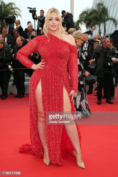 """Iskra Lawrence attends the screening of """"Les Plus Belles Annees D'Une Vie"""" during the 72nd annual Cannes Film Festival on May 18, 2019 in Cannes,..."""