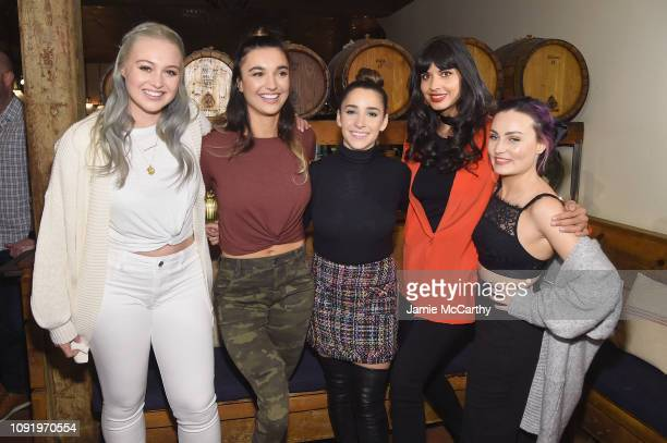 Iskra Lawrence Brenna Huckaby Aly Raisman Jameela Jamil and Molly Burke attend as Aerie celebrates #AerieREAL Role Models in NYC on January 31 2019...