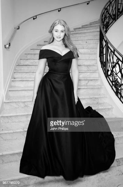 Iskra Lawrence departs the Martinez Hotel during the 71st annual Cannes Film Festival at on May 12 2018 in Cannes France