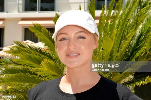 Iskra Lawrence poses during the Aerie Swim 2018 panel during the Paraiso Fashion Fair at the Plymouth Hotel Miami on July 14 2018 in Miami Beach...