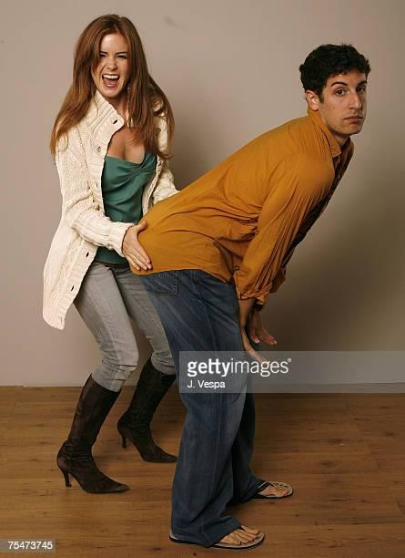 Isla Fisher and Jason Biggs at the Portrait Studio in Toronto Canada
