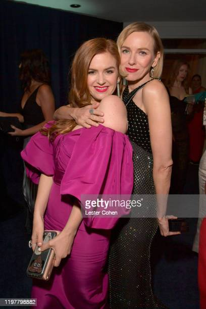 Isla Fisher and Naomi Watts attend The 2020 InStyle And Warner Bros. 77th Annual Golden Globe Awards Post-Party at The Beverly Hilton Hotel on...