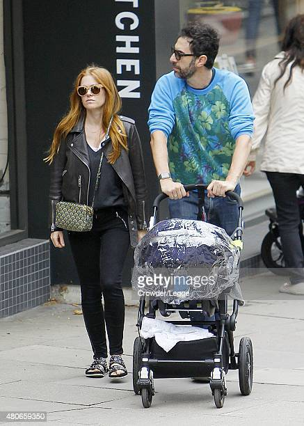 Isla Fisher and Sacha Baron Cohen are pictured shopping on July 14 2015 in London England