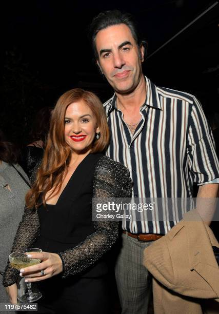Isla Fisher and Sacha Baron Cohen attend the Netflix Golden Globe Weekend Cocktail Party at Cecconi's Restaurant on January 04, 2020 in Los Angeles,...