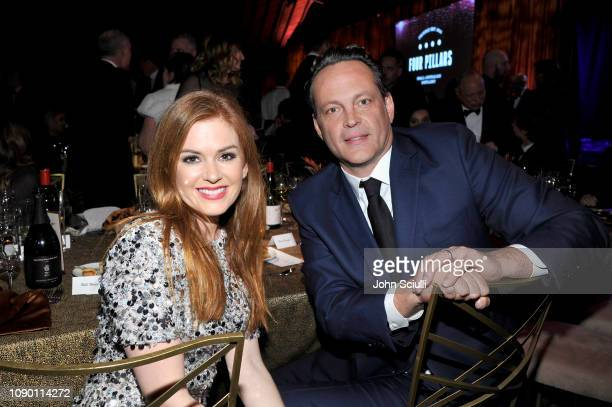 Isla Fisher and Vince Vaughn attend the 2019 G'Day USA Gala at 3LABS on January 26, 2019 in Culver City, California.