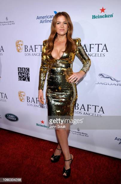 Isla Fisher arrives to the BAFTA Tea Party at The Four Seasons Hotel Los Angeles at Beverly Hills on January 05 2019 in Beverly Hills California