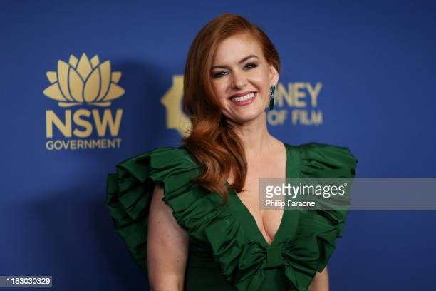 Isla Fisher attends the 2019 Australians In Film Awards at InterContinental Los Angeles Century City on October 23 2019 in Los Angeles California