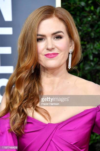 Isla Fisher attends the 77th Annual Golden Globe Awards at The Beverly Hilton Hotel on January 05, 2020 in Beverly Hills, California.