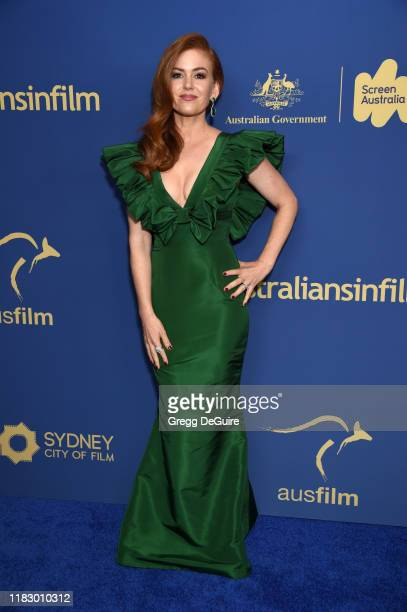 Isla Fisher attends the 8th Annual Australians In Film Awards Gala Benefit Dinner at InterContinental Los Angeles Century City on October 23 2019 in...