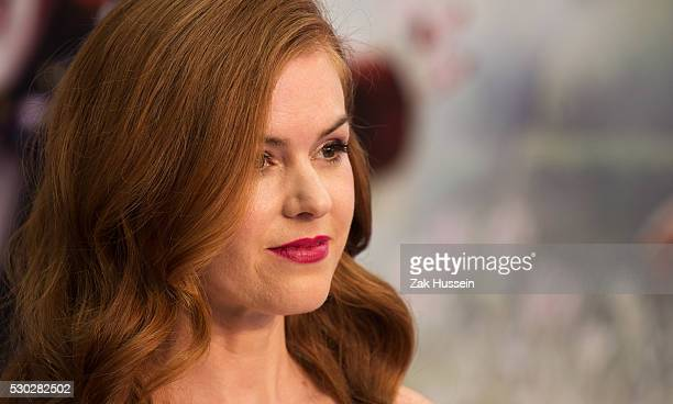 Isla Fisher attends the European Film Premiere of Alice Through The Looking Glass at Odeon Leicester Square on May 10 2016 in London England