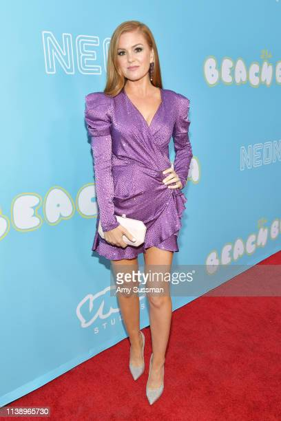 Isla Fisher attends the Los Angeles premiere of Neon And Vice Studio's The Beach Bum at ArcLight Hollywood on March 28 2019 in Hollywood California