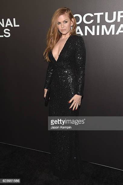 Isla Fisher attends the New York Premiere of Tom Ford's 'Nocturnal Animals' at The Paris Theatre on November 17 2016 in New York City