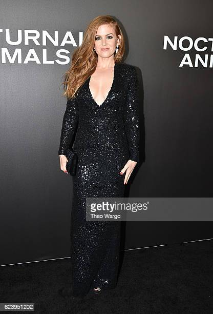 Isla Fisher attends the 'Nocturnal Animals' premiere at The Paris Theatre on November 17 2016 in New York City