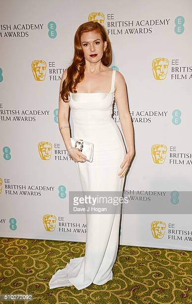 Isla Fisher attends the official After Party Dinner for the EE British Academy Film Awards at The Grosvenor House Hotel on February 14 2016 in London...