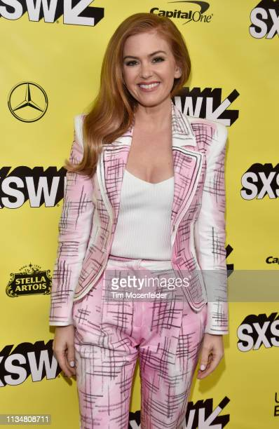 Isla Fisher attends the premiere of The Beach Bum during the 2019 SXSW Conference and Festival at the Paramount Theatre on March 09 2019 in Austin...