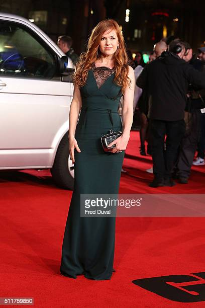 Isla Fisher attends the word premiere of 'Grimsby' at Odeon Leicester Square on February 22 2016 in London England