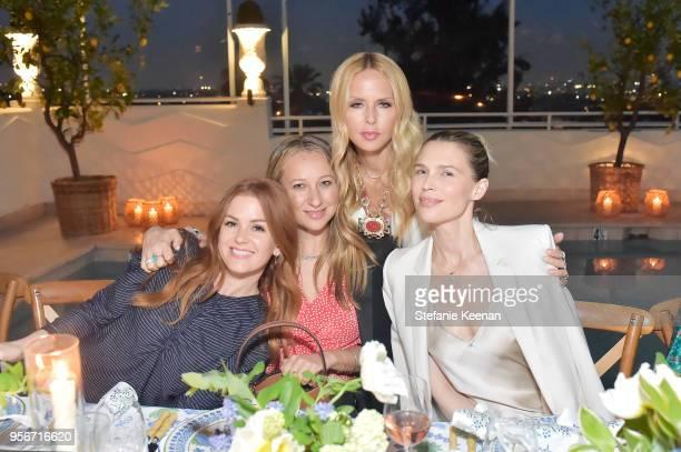 Isla Fisher, Jennifer Meyer, Rachel Zoe and Sara Foster attend Aerin Lauder, Crystal Lourd and Jennifer Meyer Host a Dinner in Celebration of the...