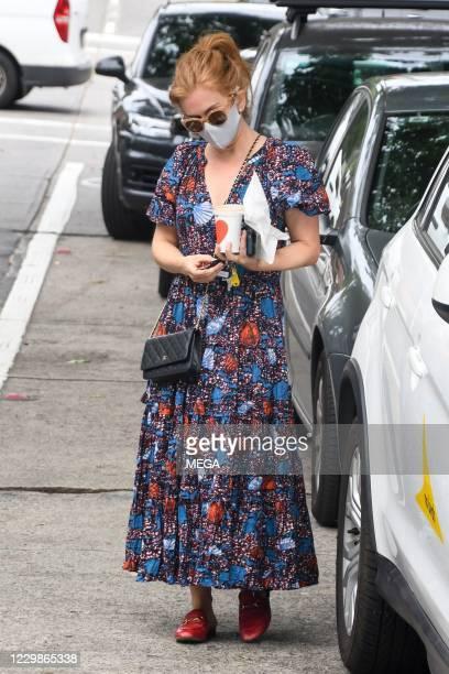 Isla Fisher seen in Paddington on November 30, 2020 in Sydney, Australia.